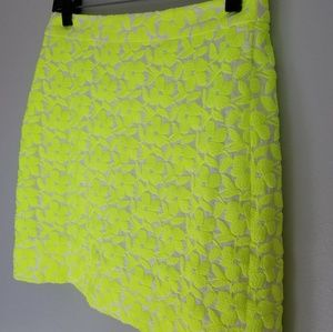 J.Crew Textured Neon Floral Mini Skirt